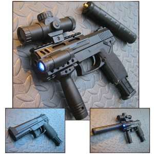 MK23 SOCOM Airsoft Guns w/Laser Scope & Flashlight: GPS