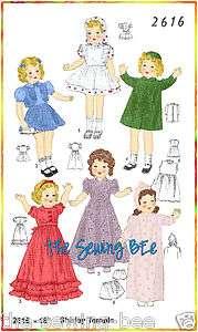 2616 Shirley, Patsy Doll Wardrobe Pattern vintage 14