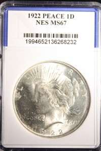 AUTHENTIC 1922 PEACE SILVER DOLLAR HIGH MS COIN #232