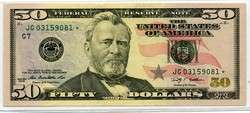 USA Fifty Dollar $50 JG 2009 Star Note