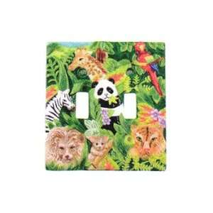 Jungle Animals   Kids Double Lightswitch Plate   Room