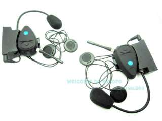 2x 1.5KM Interphone Motorcycle Motorbike helmet Intercom Headset FM