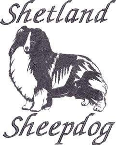Shetland Sheepdog Sheltie Herding Dog Silhouette Embroidered