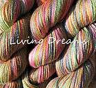 Hand Dyed SOCK YARN SuperWash Merino Wool Tencel Blend silky soft
