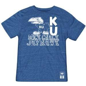 Kansas Jayhawks adidas Originals Heathered Blue Vault Logo