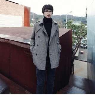 New Autumn Winter Mens Fashion Cool Slap Up Korean Style Jacket Coat