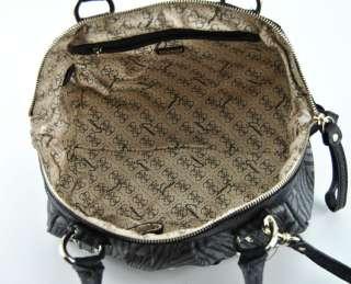GUESS HANDBAG WANDERLUST SHOULDER BAG PURSE BLACK LOGO