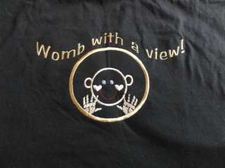 Womb with a View ~ Womb Mates ~ Embroidered Ladies Maternity Top