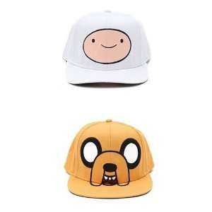 Adventure Time Tv Show Hat Set   Finn and Jake Adult Snap