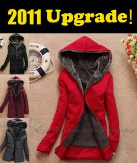 Fashion Womens Thicken Hooded Warm Outerwear Jackets Winter Coats H124
