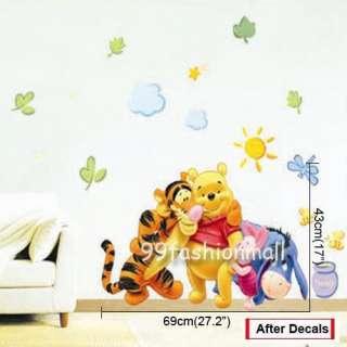 Winnie The Pooh Friend hunny DIY Art Wall Sticker Kids Baby Nursery