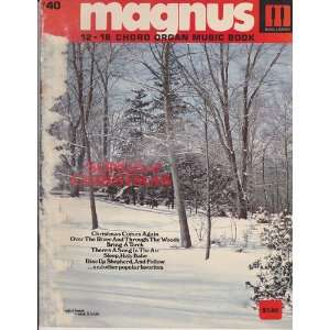 Magnus 12 16 Chord Organ Music Book Songs of Christmas