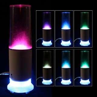 USB Mini Speaker Colorful Water drop Touch Sensor LED Table Lamp Light