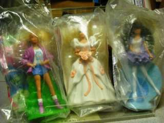 Lot of THREE Barbie Happy Meal Dolls MIB