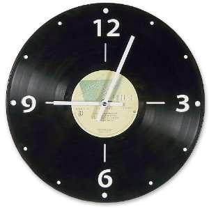 Vintage Vinyl LP Record Wall Clock, Rock Genre