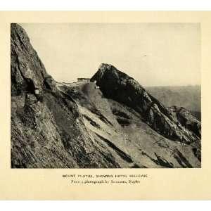 1909 Print Sommers Mount Pilatus Hotel Bellevue Mountain Tourism