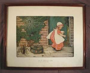 Vintage Jessie Wilcox Smith Miss Muffett Framed Print |