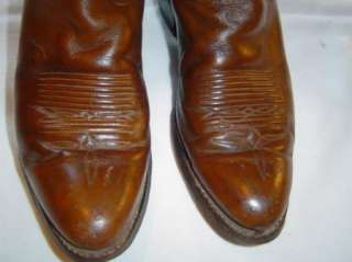 VINTAGE LEATHER TONY LAMA 6210 COWBOY BOOTS 7B