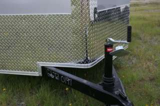 New 6x12 Enclosed Cargo Motorcycle Trailer V Nose Ramp