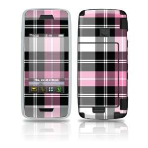 Pink Plaid Design Protective Skin Decal Sticker for LG