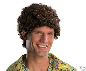 51873 Tight Fro Wig Brown Afro Curly Hair 70s Halloween