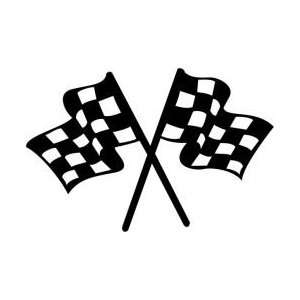 Pink Crossed Checkered Flags RaceFashioncom Auto Racing Tshirts