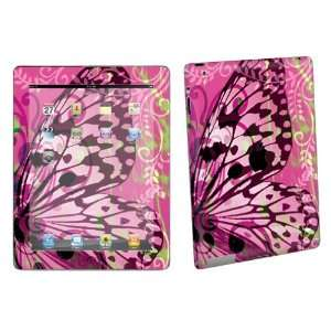 Apple iPad 2 2nd Gen Tablet Vinyl Protection Decal Skin Pink Butterfly
