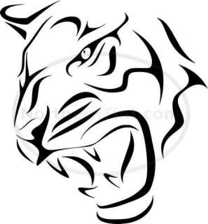 Tribal Tiger Car Decal Window Sticker Wall Art #516
