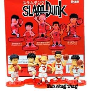 Slam dunk anime collection figures set of 5 pcs White