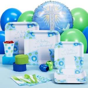 By HALLMARK Blessed Baby Boy Baptism / Christening Standard Party Pack