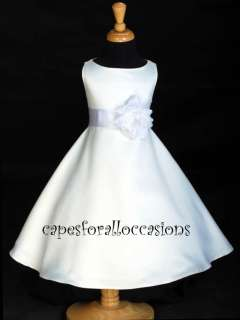 WHITE WEDDING BRIDAL PAGEANT FLOWER GIRL DRESS 12M 2 2T 4 6 6X 7 8 9