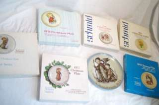 Set of 7 Schmid Hummel Christmas collector plates w/box