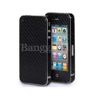 2pcs Carbon Fiber Skin Sticker FULL BODY Cover Protector For iPhone