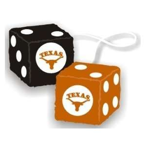 Texas Longhorns Fuzzy Dice Sports & Outdoors