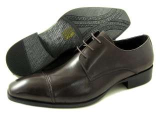 New Kenneth Cole New York Regal King Brown LE Oxford Dress Shoe US 8