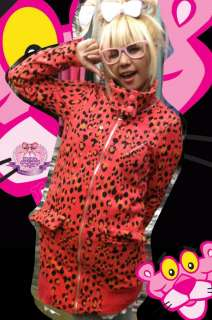Pink Panther Eskimo Faux Fur Hoody LEOPARD Parka Jacket