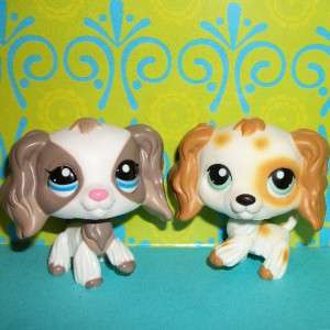 SPANIEL PUPPY DOG LOT~#344 TAN SPOTS & #2254~Littlest Pet Shop A85