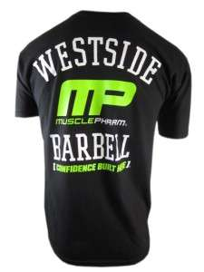 MUSCLEPHARM WESTSIDE BARBELL TEE SHIRT BLACK XL