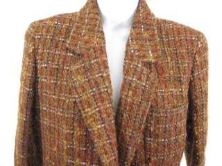 JOSEPH ABBOUD Multi Colored Wool Tweed Blazer Jacket XS