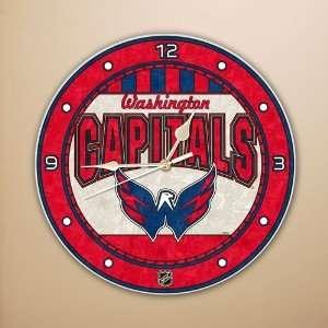 Washington Capitals 12 Art Glass Clock