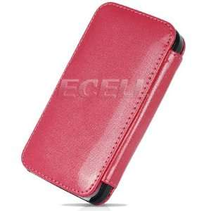 PINK GLOSSY LEATHER WALLET CASE FOR APPLE iPHONE 4 4G Electronics