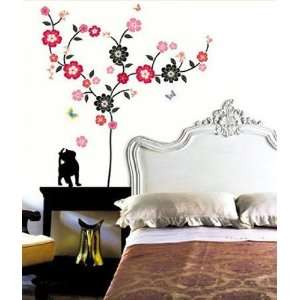 Tree & Cat Mural Wall Home Art Decor Sticker PS 58057
