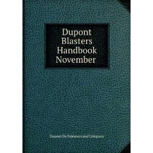 Blasers Handbook November Dupon De Nemours and Company Books