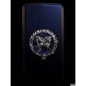 Bling, Crystal, Samsung Galaxy S2 i9100 Flip Genuine Real Leather Case