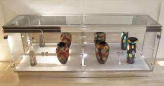 Mid Century Acrylic Lucite Credenza Display Cabinet