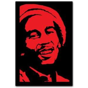 Bob Marley Music Car Bumper Decal Sticker 5x3.5