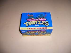 TEENAGE MUTANT NINJA TURTLES UNOPENED BOX 24 PACKS