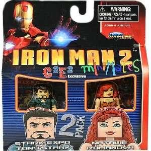 2Pack Iron Man 2 Stark Expo Tony Stark Natalie Romanova Toys & Games