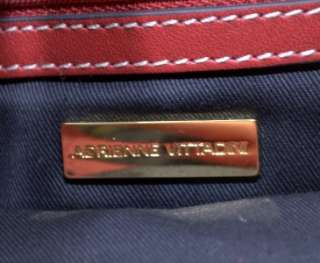 Adrienne Vittadini Small Red Leather Handbag Purse Very Nice Classic