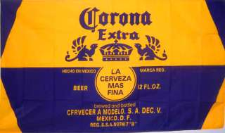 CORONA EXTRA CERVEZA BEER SIGN FLAG 3 X 5 BANNER
